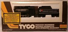 TYCO HO Scale Steam 0-6-0 Locomotive-Western Maryland Steam with Tender #1203