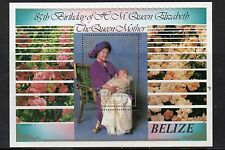 5 X BELIZE STAMPS 1985 QUEEN MOTHER'S 85th BIRTHDAY MS MNH