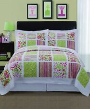 New 100% Cotton Quilted Coverlet / Bedspread Set Double / Queen Bed 230x230cm