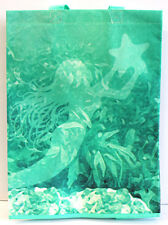 Whimsical Mermaid w/Starfish Tote/Grocery Shopping Bag. Beach and Nautical.NEW