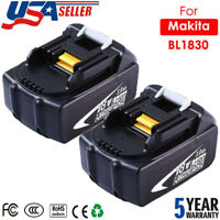 2X For Makita BL1830 BL1845 BL1850 18V Lithium‑Ion LXT Battery 3.0Ah Compact New
