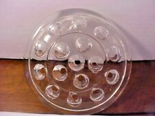 "Clear Glass Flower Frog For Floral Arrangements Has 16 Holes 5"" Diameter Clean"