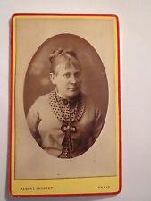 Parigi - 1878-Donna in abito-Portrait/CDV