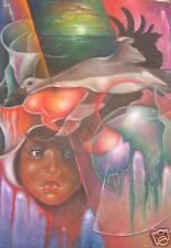 Beautiful Original Painting by Haitian Diems Joseph