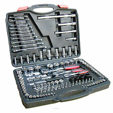 "Socket Set 120 Pce 72 Teeth 1/2"", 3/8"", 1/4"" Drive + 10 Spanners Spark Plug Sock"