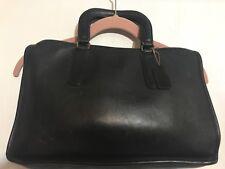Vintage Rare COACH Black Leather Attache Briefcase Made in New York No. 798-7726