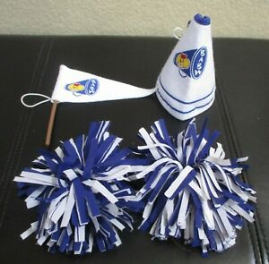 Build A Bear Workshop 4 Pc Cheerleading Accessories Blue & White