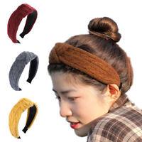 Ladies Woolen Knot Headband Hairband Alice Wide Hair Band Hair Hoop Accessories