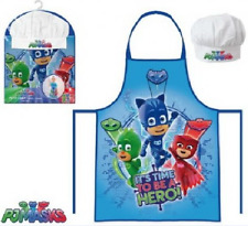 CHILDS GIRLS BOYS KIDS P J MASKS CHEF COOK BAKING GIFT APRON SET- APRON & HAT