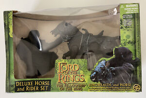 2001 Toybiz Lord of the Rings Ring Wraith Deluxe Horse & Rider Figure MIB