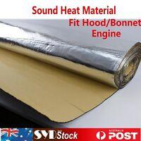 1.8Mx1M Sound Deadener Heat Shield Insulation Cars Ute Van Bonnet Foam Adhesive