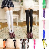 Women Sexy Long Boot Hosiery Socks Over Knee Thigh High School Girl Stocking U2
