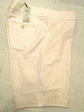 Peter Millar E4 Polyester Blend Tan Geo Pattern Golf Shorts NWT  sz 6 $99.50