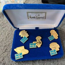 Walt Disney Classic Collection Pin Set WDCC 1992-1996 5th Anniversary New