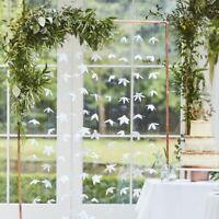 WEDDING BACKDROP WHITE ORIGAMI FLOWERS FOLIAGE CENTERPIECE GREENERY HEN BIRTHDAY