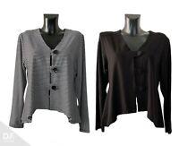 MB BERLIN Damen Bluse / Jacke ⁂Lagenlook ⁂A-Form ⁂Viskose ⁂Gr. 38-48 ⁂EU