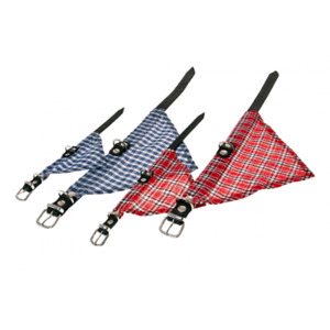 Rondo Halsband mit Halstuch Hundehalsband, Lederhalsband, Hundehalstuch