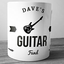 GUITAR FUND PERSONALISED CERAMIC MONEY BOX PIGGY BANK PENNY JAR GIFT GUITARIST