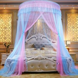 Bed Canopy Princess Bed Curtains Lace Dome Mosquito Net for Girls Kids
