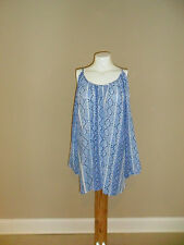Jaclyn Smith Women's Plus Cold Shoulder Top Snakeskin Print Blue Size:3X NEW
