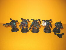 Chaos Space Marines - 5x metal Death Guard - Plague Marines - Seuchenmarines
