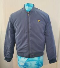 LYLE & SCOTT Junior blue Jacket 12/13 Yrs  zip through bomber Padded Teen Boys