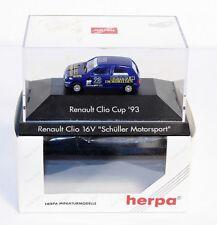 "Herpa 035866, RENAULT CLIO 16 V ""Schüller sport automobile"", 1:87, en oct #ab1515"
