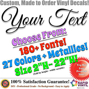Custom Vinyl Lettering Decal Car Truck Decals Sign Banner Window Text Sticker
