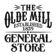 "Primitive STENCIL*Olde Mill GENERAL STORE*12""x12"" For Painting Signs Canvas Wood"