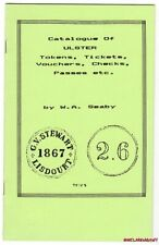Catalogue - ULSTER Tokens, Tickets, Vouchers, Checks, Passes, Seaby '71 Reprint