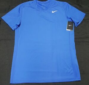 Nike Mens Pro Baselayer Fitted Training Shirt Blue 728053-480