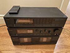 Vintage Sansui Stereo Set Stack B-3000 Amp, T-1000 Tuner, C-1000 Amp - Mint Cond
