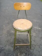 Vintage Industrial HALLOWELL Drafting / Architect Chair / Stool / Steampunk