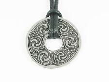 Celtic Interlaced Disc Pewter Pendant Viking, Norse