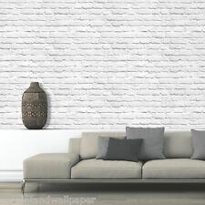 Papel pintado 3d Blanco Estampado Efecto De Muro de ladrillos Moderna atrevida