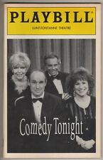 """Comedy Tonight""  Playbill  Broadway  1994  Mort Sahl, Dorothy Loudon, Joy Behar"