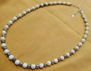 """Carolyn Pollack Relios Sterling Silver Bead Necklace 19.5"""" 19.71g"""