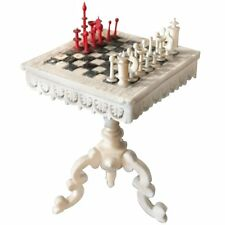 Miniature Chess Table with Stanhope Lens with Scenes of Switzerland