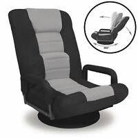 BCP 360-Degree Swivel Gaming Floor Chair w/ Armrest Handles, Adjustable Backrest