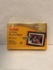 """Kodak Ultima Photo Paper 100 Sheets High Gloss 4""""x6"""" - New"""