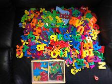 HUGE Lot 350+ Magnetic Alphabet Letters Numbers Math Fridge Crafts Classroom GUC