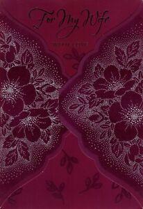 Happy Birthday Wife We Set A Record Purple & Silver Flower Flowers Hallmark Card