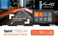 GPS Spirit 7700 LM Spécial Camping cars Poids Lourds écran 5'' Mise A Jour Free