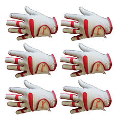 6 x Touch Cabretta Leather Mens Left Hand Golf Gloves For Right Handed Golfers