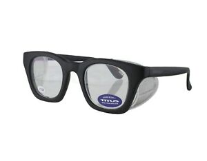 Titus G12 Retro Safety Readers Glasses Magnification w Side Shields ANSI Z87