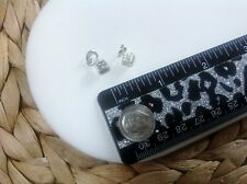 Dice Charms-Set of 2-Solid Sterling Silver 925-Small-Pendant-Die-Luck-Casino