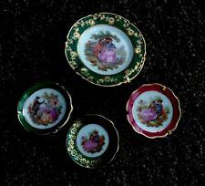 Limoges France Vintage Porcelain Souvenire Miniature Collectors  Plates Lovers