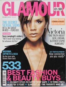 VICTORIA BECKHAM GERI HALLIWELL MADONNA GWYNETH PALTORW UK Glamour magazine 2002