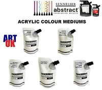 Sennelier ABSTRACT MEDIUMS acrylic paint colour gesso varnish gel agent paste