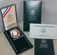 1990 P PROOF 90% Silver Dollar Eisenhower Ike Coin Box and COA American Made